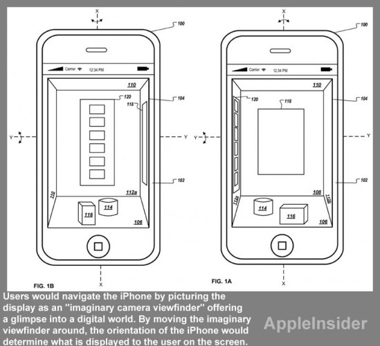 iPhone-3D Tecnologia 3D para iOS é patenteada pela Apple