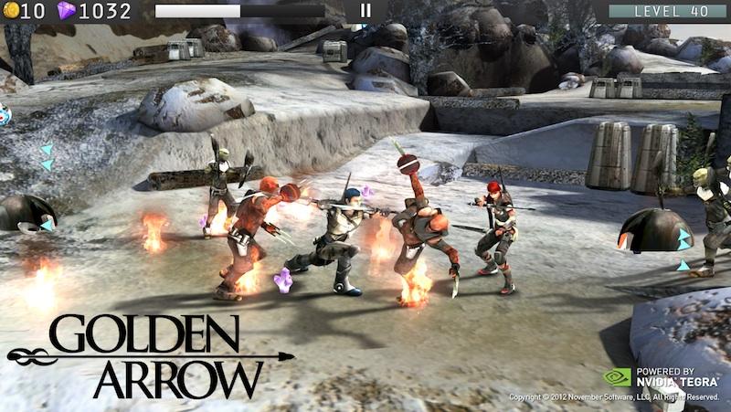 golden-arrow-android-1 [MWC 2012] Nvidia mostra os poderes do Tegra 3 em quatro novos jogos