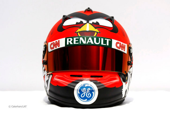 heikki-kovalainen-angry-birds-helmet-f1-2012-0 Angry Birds acelerando na Fórmula 1