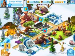 "Ice-Age-Village-3-300x225 Ice Age Village - Jogo produzido pela Gameloft para promover o filme ""A Era do Gelo 4"""