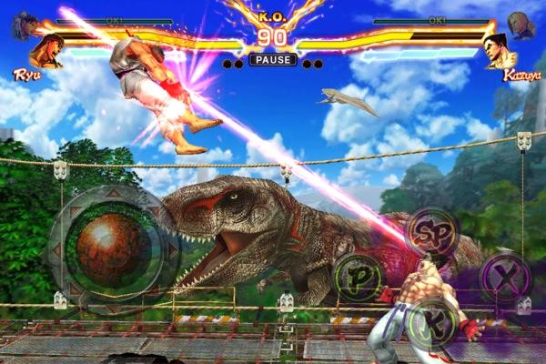 "Street-Fighter-X-Tekken-inGame-4 Novos detalhes de ""Street Fighter X Tekken"" (iOS)"