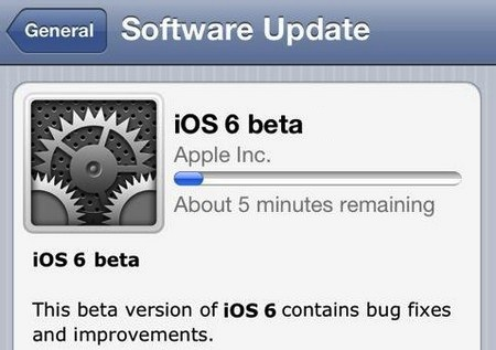 "ios5-beta6-update-Apple1 Apple Keynote Junho de 2012: Nem iPhone 5, nem iPod Touch de 4"", mas iOS 6!"