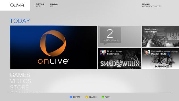 Ouya-oferecerá-suporte-a-OnLive Ouya - Console com Android terá suporte ao OnLive