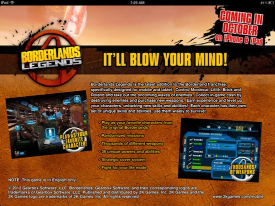 Anúncio-de-Borderlands-Legends Borderlands: Legends anunciado para iPhone e iPad