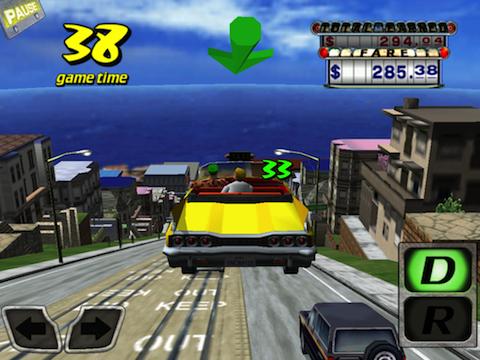 Crazy-Taxi-inGame-3 Melhores jogos para iPhone e iPad da Semana #7/2014