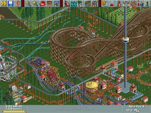 """Roller-Coaster-Tycoon-1 ATARI anuncia diversos jogos para iPhone, dentre eles, """"Roller Coaster Tycoon"""""""