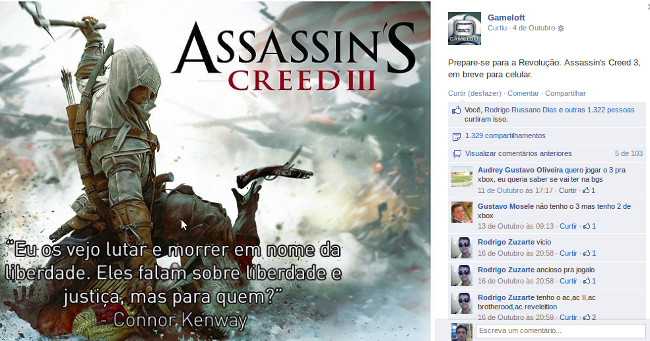 assassins-creed-3-celular Assassin's Creed 3 para celular Java deve sair em breve