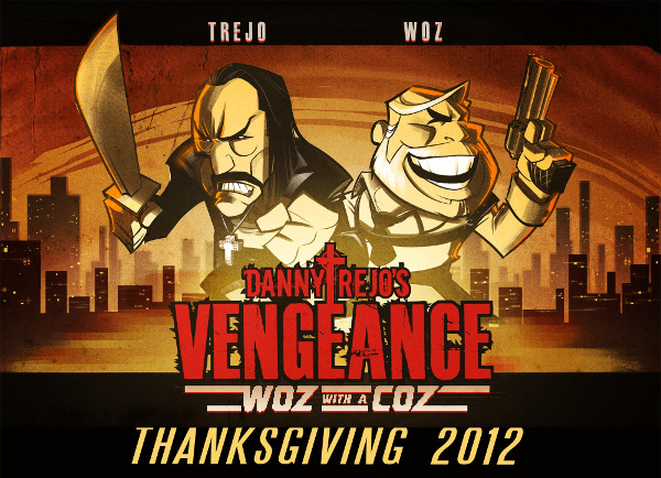 Vengeance-Game-Poster Danny Trejo (Machete) e Steve Wozniak (Ex-Apple) Viram jogo para iPhone