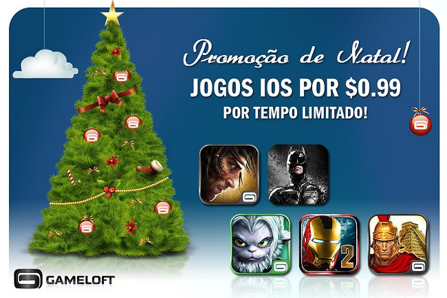 PROMOCAO-NATAL-GAMELOFT Todos os jogos em promoção de Natal da App Store (US$ 0,99)