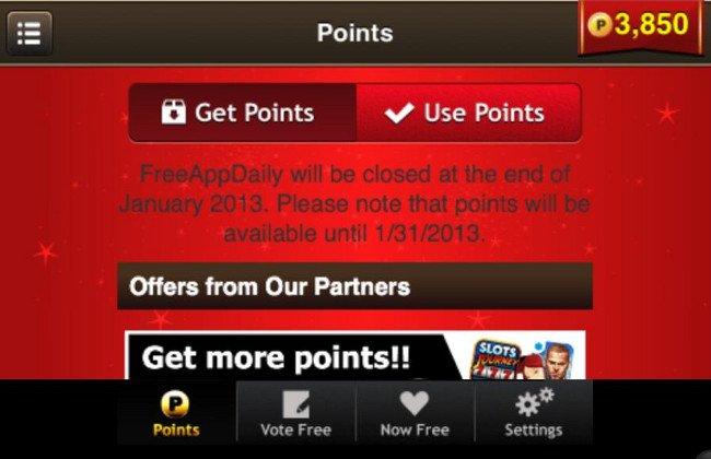 FreeAppDaily-Fail FreeAppDaily será desativado no final de Janeiro