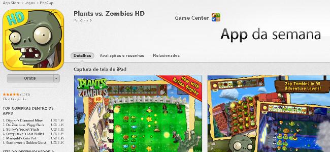plants-vs-zombies-app-da-semana-ios Jogo grátis da semana para iPhone e iPad - Plants vs Zombies
