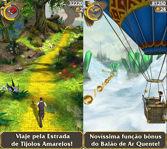 Magico-de-oz-temple-run Baixe Temple Run Oz para iPhone e Android