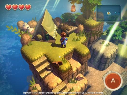 Oceanhorn-2013-screenshot-2-525x393 OceanHorn aparece acidentalmente na App Store da Nova Zelândia