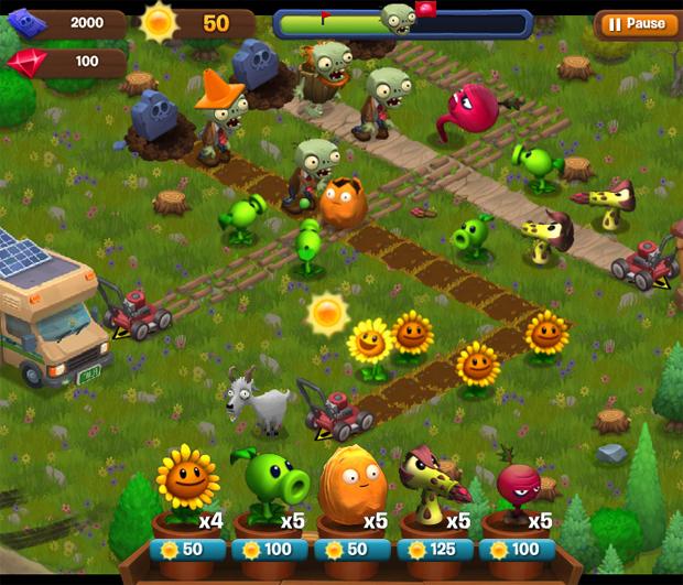 plantsvszombies-adventures-facebook Novos jogos de Plants vs Zombies para Facebook e... Nintendinho?