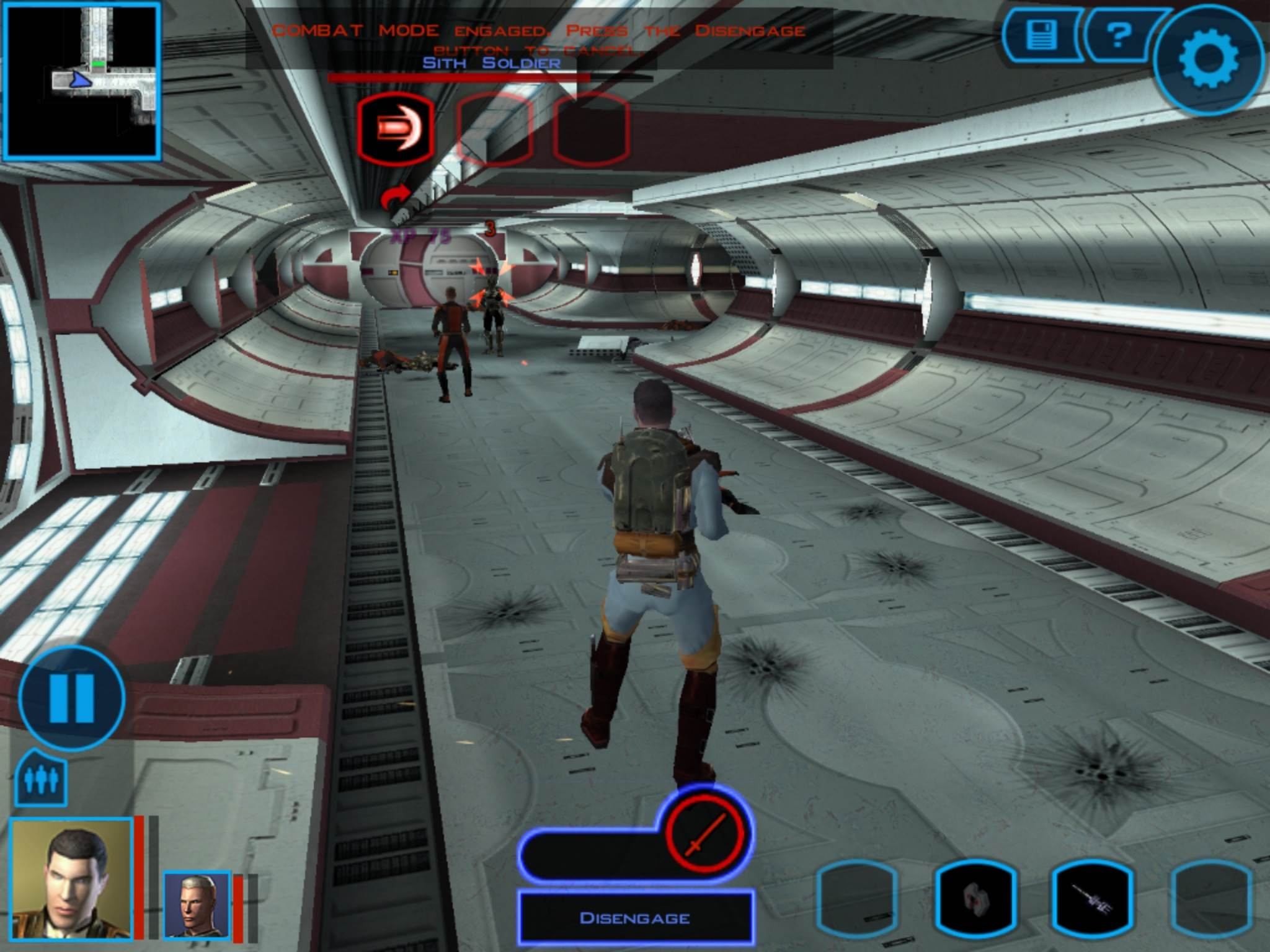 Star-Wars-Knights-of-the-Old-Republic-inGame-Tela-1 STAR WARS: Knights of The Old Republic ganhará versão para iPad