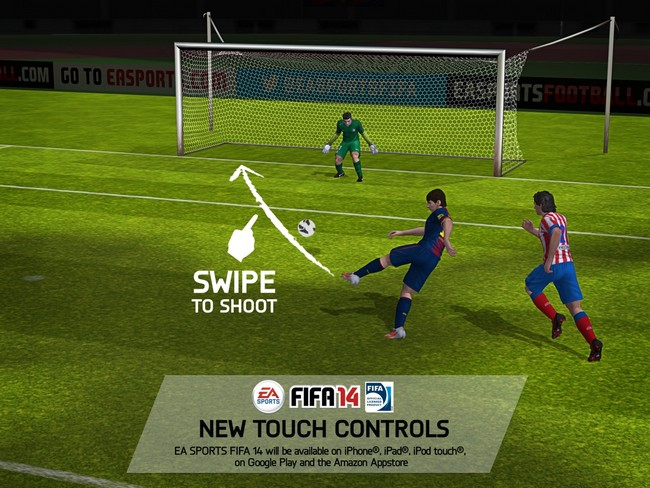 e3-swipe-to-shoot FIFA 14 para Android Confirmado!