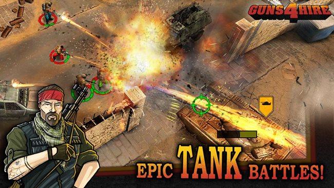 Guns-4-Hire 25 Melhores Jogos para Android Grátis: 1º Semestre de 2013