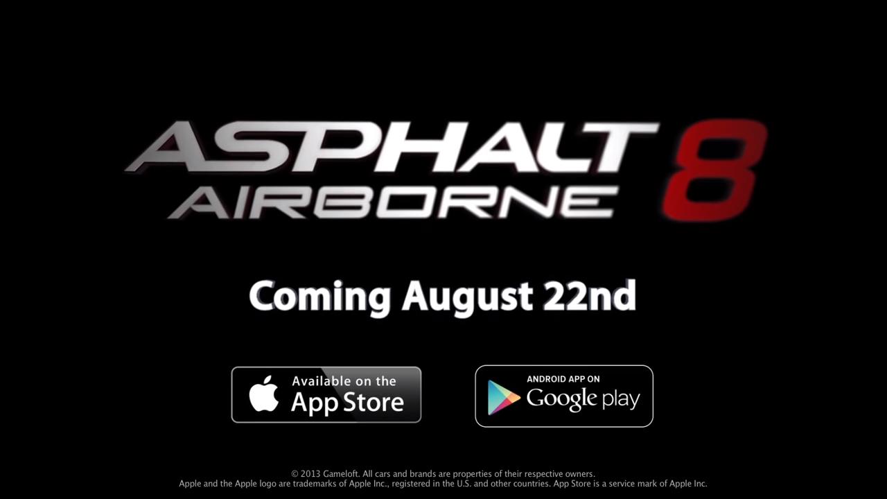 Asphalt 8 chega ao iOS e Android no dia 22 de Agosto