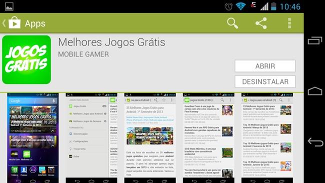 """Melhores-jogos-gratis-o-aplicativo """"Melhores Jogos Grátis"""" - baixe um novo jogo para Android todo dia!"""