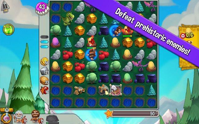 cavemania Cavemania é um Candy Crush com elementos de RPG