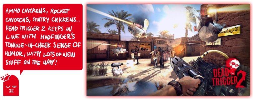 chicken-banner Em Dead Trigger 2, as galinhas podem salvar a humanidade do apocalipse zumbi