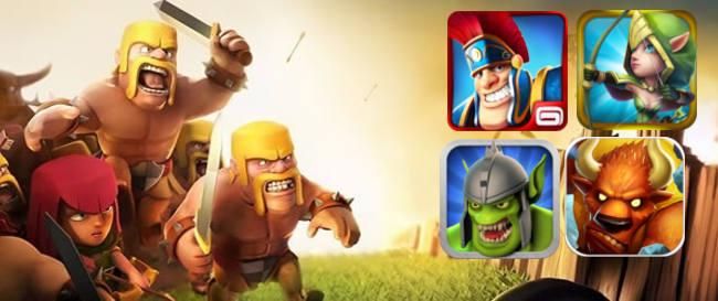 clash-of-clans-vs-clones 4 Jogos Grátis no estilo 'Clash of Clans' para Android