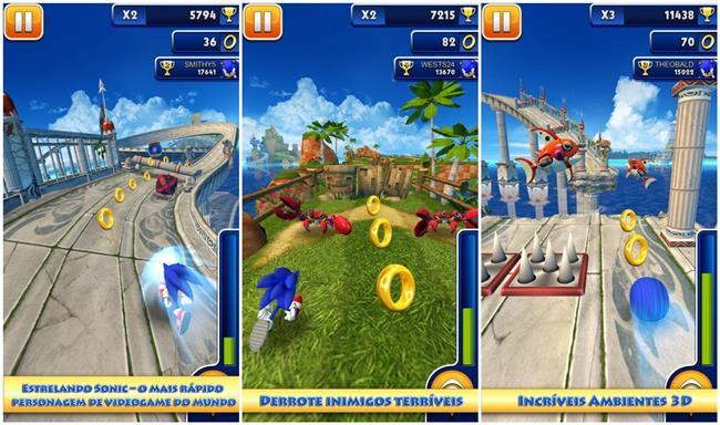 sonic-dash 25 Melhores Jogos para Android Grátis: 2º Semestre de 2013
