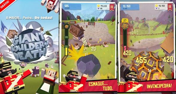 GiantBoulder-android Giant Boulder of Death: Jogo de sucesso do iOS chega ao Android