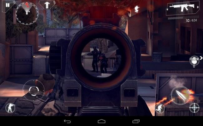Modern-Combat-4-Zero-Hour-Between-Sniper-Crosshairs 25 Melhores Jogos Pagos para Android de 2013
