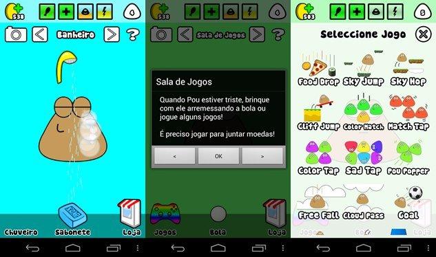 Pou-atualizaca-portugues Jogos Android para Crianças no Dia das Crianças