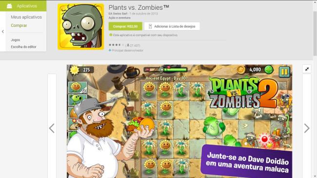 ea-plants-vs-zombies-2-fail Fail! EA se confunde e vende versão errada de Plants vs Zombies na Google Play