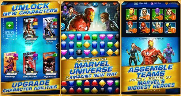 marvel-puzzle-quest-1-horz Marvel Puzzle Quest traz os Avengers em uma aventura para Android/iOS