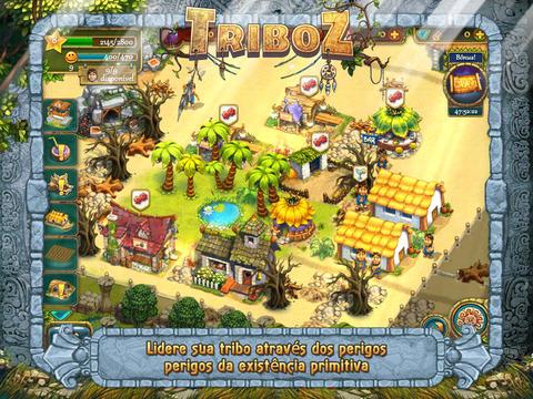 triboz-android-iOS-1 Triboz é um jogo grátis onde você deve cuidar de uma tribo