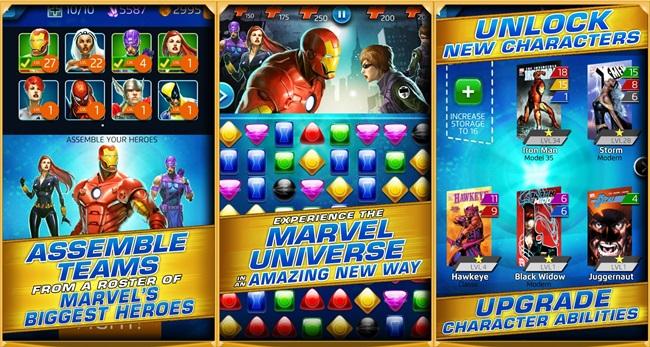 Marvel-puzzle-quest Melhores Jogos para Android Grátis – Outubro 2013