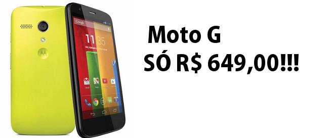 Motorola lança Moto G, um celular barato e bom para jogos, conheça