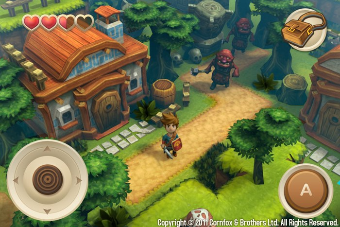 "Oceanhorn-iPhone4S-bullshot-small Review: Oceanhorn é um novo game em ""estado da arte"" para iOS"