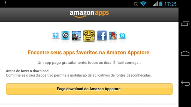 amazon-appstore-android1 Amazon Appstore no Brasil: Baixe jogos pagos de graça para Android