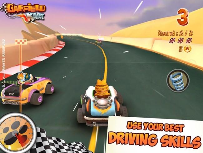 garfield-kart-1 Jogos Pagos para Android - Garfield Kart