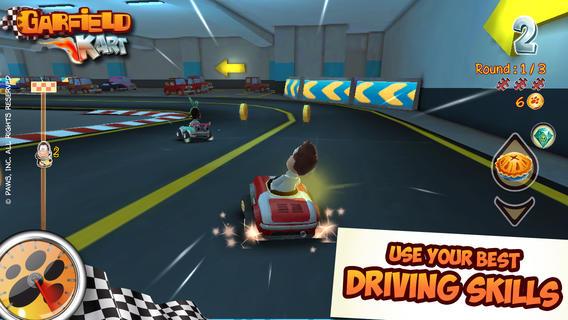 garfield-kart Melhores jogos para iPhone, iPod Touch e iPad da semana #1