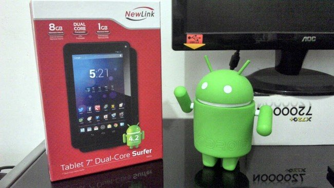 "tablet-newlink-7 Análise: Tablet Dual-Core New Link 7"" Surfer"