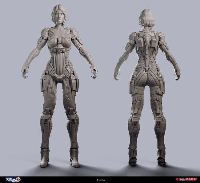 Kyoungmin-Lee-Redsteam-Gameloft-minikey-nova-3-character-yelena-1 Veja a arte na criação dos personagens dos jogos da Gameloft