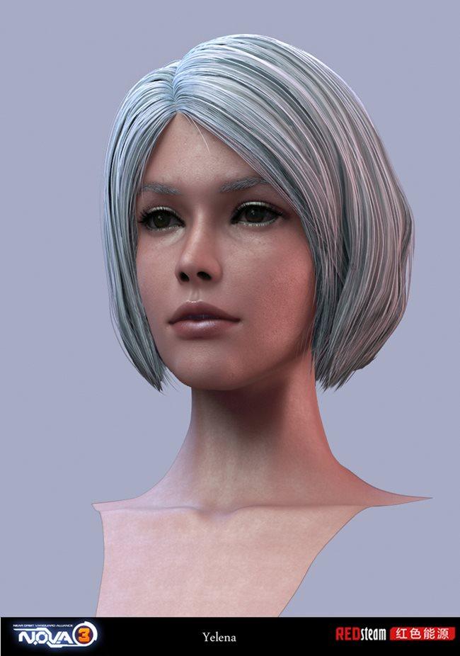 Kyoungmin-Lee-Redsteam-Gameloft-minikey-nova-3-character-yelena-face Veja a arte na criação dos personagens dos jogos da Gameloft