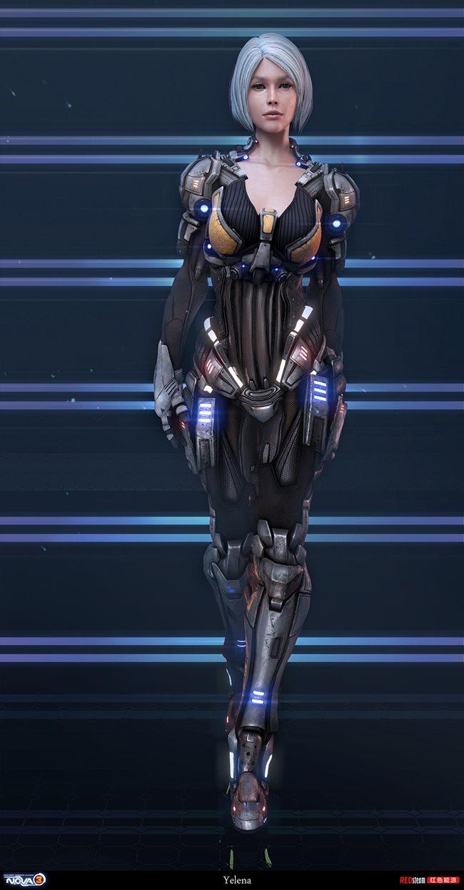 Kyoungmin-Lee-Redsteam-Gameloft-minikey-nova-3-character-yelena Veja a arte na criação dos personagens dos jogos da Gameloft