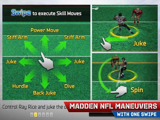 Swipe-controls-Madden-NFL-25-iOS-game 25 Melhores Jogos Grátis para iPhone e iPad – 2º Semestre de 2013