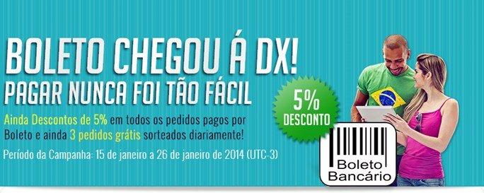 boleto-deal-xtreme DX.COM agora aceita boleto bancário; compre controles bluetooth e muito mais