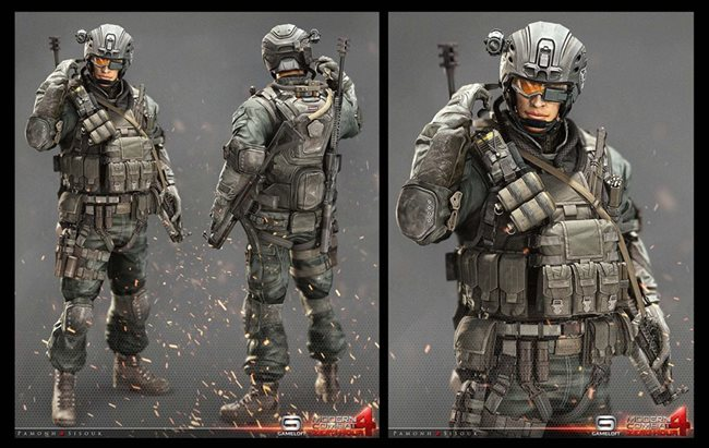 modern-combat-4-concep-art-2 Veja a arte na criação dos personagens dos jogos da Gameloft