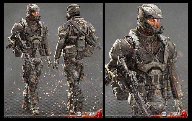 modern-combat-4-concep-art Veja a arte na criação dos personagens dos jogos da Gameloft