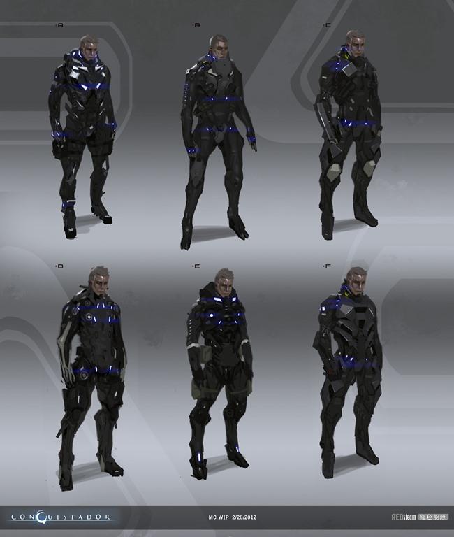 """redsteam-ios-project-sobaku-chiuchiu-mc-suit-early-sketches Conheça """"Conquistador"""", jogo cancelado da Gameloft que lembra """"Dead Space"""""""