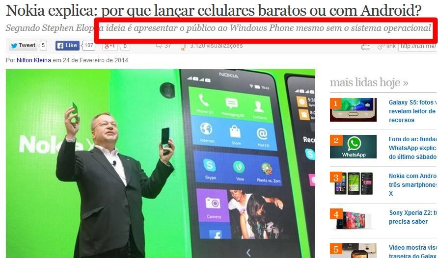 Nokia-fail-2014 Por que a Nokia está fazendo celulares com Android?