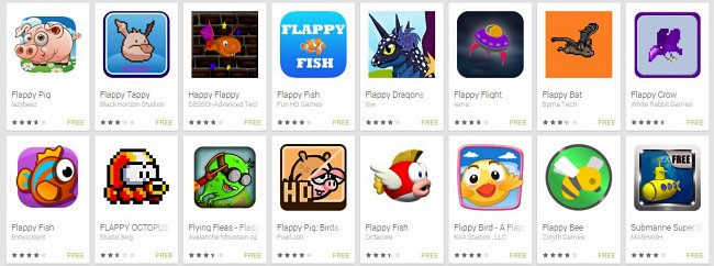 flappybirdclones Clones de Flappy Bird começam a ser rejeitados por Apple e Google